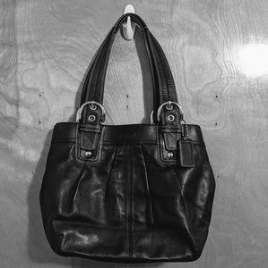 Coach purse - black with silver